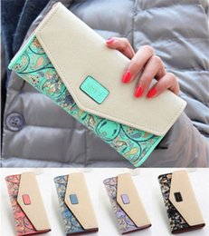 Wholesale 2015 Women Zip PU Leather Clutch Case Lady Long Handbag Wallet Purse Phone Card Case