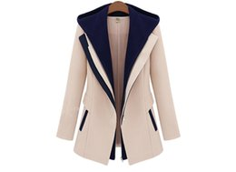 Wholesale 2015 new Women Slim Faux Hooded Outerwear thin casacos femininos Jackets Patchwork wear Casual Female Coat HF