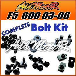 Wholesale Addmotor Pieces Set Black Complete Fairing Bolt Kit Body Screws Fasteners For Honda CBR600F5 CBR F5 H65S
