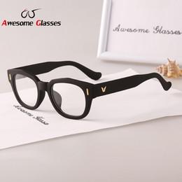 2017 gafas de diseño fresco Comercio al por mayor de alta moda diseñador de la marca 2015 Nueva lente transparente Eye Glasses Marcos Para mujeres refrescan Marco victoria Gafas Vogue Gafas S257 gafas de diseño fresco limpiar