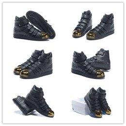 Wholesale Size Originals x Juun J Mens Pro Model s Hi Black Gold Sneaker Unisex Mens Womens Fashion Skate Board Shoes