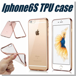 Wholesale Iphone Case Colorful TPU Backcover Ultra Thin Case Galaxy S7 TPU Case Electroplating Technology Soft Gel Silicone Case Opp Package