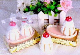 Wholesale Sweet Celebrations Banana Split Salt and Pepper Shakers Wedding favors and gifts Set of boxes