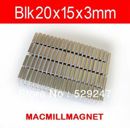 2016 Brand New Rare Magnet Rare-earth Neodymium Super Strong Permanent Magnet Block 10pcs pack blk20x15x3mm, Free Shipping