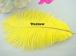 Wholesale 100 pcs 8-10inch yellow ostrich feather for wedding centerpiece table centerpiece Wedding decoraction party decor