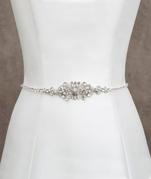 Fashionable Bridal Sashes and Belts Wedding Dress Sash for Wedding Beaded Rhinestone Crystal Wedding Belt Cheap