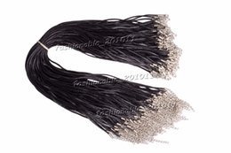 Black Cords Necklace Cord String Rope Wire 45cm Exten Chain with Lobster Clasp DIY jewelry components