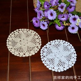 Free shipping 2013 new arrival table ware 12 pic lot 16 cm round cotton lace felt crochet hook coasters doilies as tea cup mat