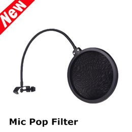 Wholesale Flexible Studio Microphone Filter Wind Screen Microphone Mask Shied Defense Against Distorting P and B Consonants