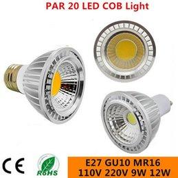 9W 12W 15W E27 E14 GU10 MR16 B22 PAR20 COB LED Bulb lamps Dimmable led Spotlight bulb light 110V 220V Warm Cool white
