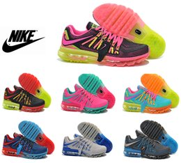 2016 Shoes Run Air Max Nike Air Max 2015 Running Shoes For Women & Men, Top Quality KPU Honeycomb Comfortable Athletic Sneakers Shoes Run Air Max for sale