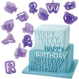 Wholesale SET wedding Fondant Cake Decoration Tools Font Alphabet Cutter number Letters cookie Biscuit cutter set Birthday supplies