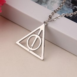 Wholesale 2016 Silver Deathly Hallows Pendant necklace harry new arrival Ancient Bronze ancient silver two colors ZJ