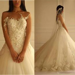 Vestidos Off The Shoulder Lace Sheer Wedding Dresses 2018 Bohemian Vintage Appliques Lace Custom Garden Bridal Gowns Vestidos De Mariee