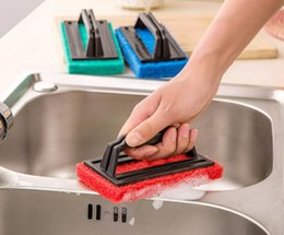 Wholesale Bathtub Kitchen Sink Cleaning Brush With Handle Glass Tile Kitchen Table Bathroom Home Thickened Cleaning Brush