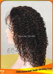 Wholesale Kinky Curl Indian Remy Full Lace Wig With Highlight Lace Wigs Supplier