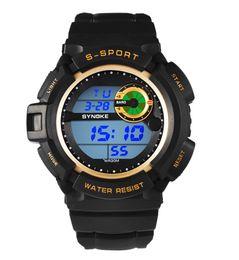 New Fashion Sport PU Kids Digital Watches Strap Round Dial Waterproof Watches LED Digital Watches For Men