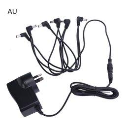 Effect Pedal Power Supply AU Plug 9V 6 Way Out input 100-240V MU0890