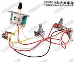 Wholesale ST SQ electric guitar circuit line assembly singles double potentiometers gears switch socket