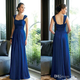 2015 Cheap In Stock Sexy Royal Blue Bridesmaid Dresses Strapless Sleeveless Sheath Floor-Length Chiffon Prom Wedding Party Dress Under $85