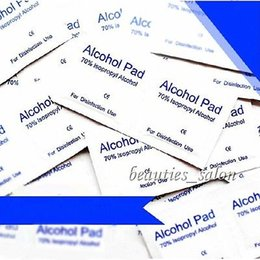 Wholesale-New 10Pcs Set Alcohol Pads Nail Art Disinfection UV Gel Cleanning Pads#16607