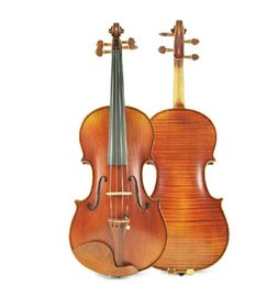 Wholesale Antique Handcraft Technology High grade spruce panel Solo Playing Violin Advanced Independent Board Tiger Stripe Violin
