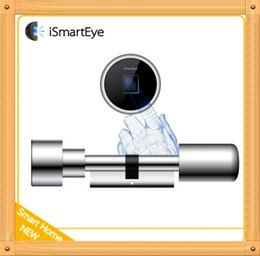 Wholesale Sample order iSmartEye L3 Fingerprint Lock Cylinder Convenient installation Smart Lock mm mm cylinder remote WiFi plug