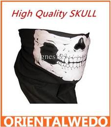 New Half Face skull Mask Bike Motorcycle Neck Scarf 100% cotton bandana Headwrap 12pcs lot free shipping