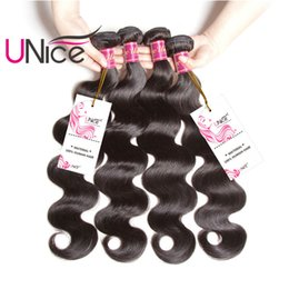 UNice Hair Brazilian Body Wave 3 Bundles 100% Human Hair Weaving 8-30inch Unprocessed Hair Extension Wholesale Weaves Products