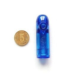 Wholesale FBH052434 Snuff bottle bullet tasteless senior through benzene sapphire blue head and large sliding sideways