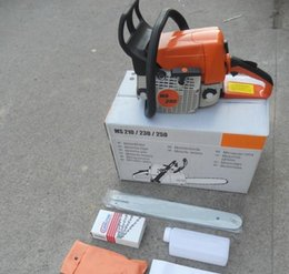 Wholesale ST MS250 Chainsaws Chain Saw KW CC gasoline imports Saws Cutting Machine Sawmill Logging Factory outlets quot and quot Guides HOT
