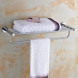 Wholesale Space saving Wall mounted Bath Towel Holder Multifunctional Copper Bathroom Towel Rack Excellent Towel Handy Bathroom storage H16041