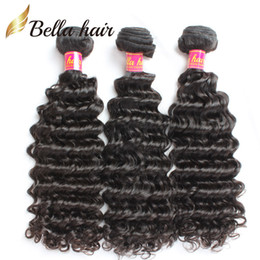 Remy Human Brazilian Hair Weaves Extensions 8A Unprocessed 3Pcs European Malaysian Indian Peruvian Drop Shipping Full Ends Deep Wave