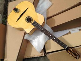 Wholesale-flame maple hand-made Jango acoustic guitar professional guitar