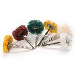 Wholesale 6 Polishing Wheel Buffing Pad Brush Jewelry Metalworking Dremel Accessories for Rotary Tools Polishing Pads order lt no track