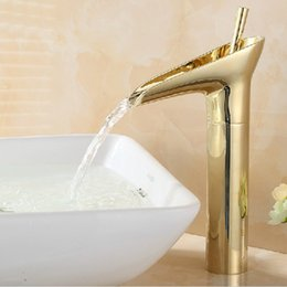 Wholesale New Euro Bathroom hot selling Gold Brass Deck Mounted Vessel Sink Faucet Mixer Tap fashion design SE K