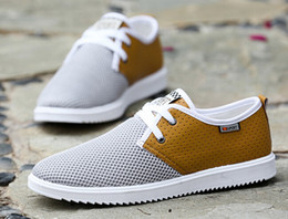 2016 stylish new round of men's fashion fabric breathable hollow men shoes ultra light Sneakers size 39-44