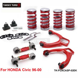 Wholesale Tansky Rear Lower Control Arms Front Camber Kits Lowering Coil Springs Red Fits For Honda Civic TK FCACASP EK
