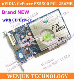 Wholesale DHL EMS High Quality NEW nVIDIA GeForce FX5500 MB bit DDR VGA DVI PCI Video Card with CD Driver order lt no track