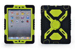 Pepkoo Spider Extreme Military Heavy Duty Waterproof Dust Shock Proof With Stand Hang Cover Case For iPad Air & retail package Free Ship