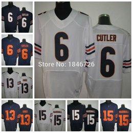 Wholesale Factory Outlet Jay Cutler Jerseys Johnny Knox Brandon Marshall Men elite stitched White Blue Cheap Football Jerseys