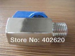 Wholesale M F or F F Mini Ball valve G1 Nickel Brass valve