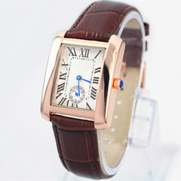 Wholesale 2016 Hot Sale Fashion lady watches man brown leather watch women Bracelet Wristwatches Brand female clock with box famous brand free shippin