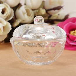 Wholesale Best Promotion Glass Crystal Bowl Cup Glassware Dish Arcylic Art Nail Bowl Liquid Powder Container