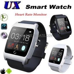 Wholesale UX Bluetooth SmartWatch Heart Rate Smart Watch Waterproof Pedometer Remote Control Sync Handsfree WristWatch For Android iPhone Smart Device
