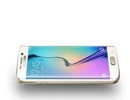Nouveaux écrans de téléphone en Ligne-Nouveau pour Samsung bord S6 Plus plein écran film de téléphone mobile recouvrant le film de la membrane haute perméabilité S6 de surface bord + verre HD