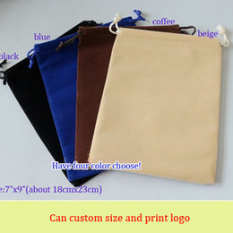 """Velvet Gift Packaging Pouch 18x23cm (7""""x9"""") Pack of 50 Makeup Jewelry Set Drawstring Storage Sack"""