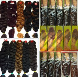 "100Pcs Lot+DHL Free Shipping Kanekalon Jumbo Braids Xpression Braiding Hair expression braiding hair 165g 82"" 10 colors Can choose"