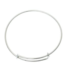 "Bangles Bracelets Circle Round Silver Tone Adjustable 20cm(7 7 8"")long,5 PCs 2015 new"