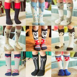 free ups ship 2016 new baby cotton socks girls knee high cartoon socks stockings baby footwear leggings socks baby leg warmers 1-6years